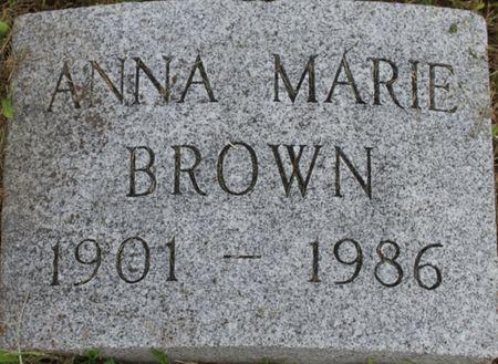 BROWN, ANNA MARIE - Page County, Iowa   ANNA MARIE BROWN