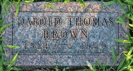 BROWN, DAROLD THOMAS - Page County, Iowa | DAROLD THOMAS BROWN