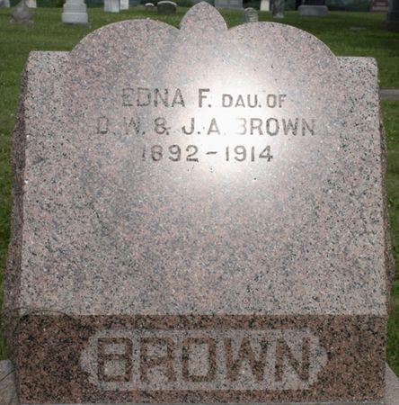 BROWN, EDNA F - Page County, Iowa | EDNA F BROWN