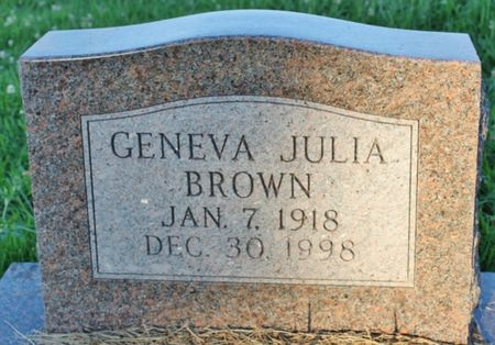 BROWN, GENEVA JULIA - Page County, Iowa | GENEVA JULIA BROWN