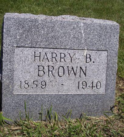 BROWN, HARRY B. - Page County, Iowa   HARRY B. BROWN