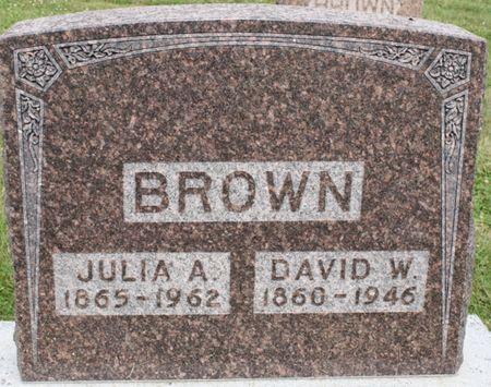 BROWN, DAVID WESLEY - Page County, Iowa | DAVID WESLEY BROWN