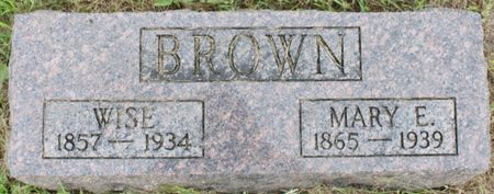 HUDDLE BROWN, MARY ELLEN - Page County, Iowa | MARY ELLEN HUDDLE BROWN