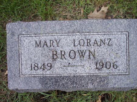 LORANZ BROWN, MARY - Page County, Iowa   MARY LORANZ BROWN