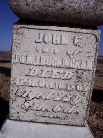 BUCKINGHAM, JOHN F. - Page County, Iowa | JOHN F. BUCKINGHAM