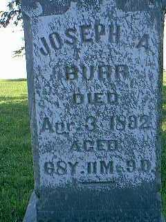 BURR, JOSEPH A. - Page County, Iowa | JOSEPH A. BURR