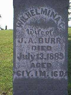 BURR, WILHELMINA - Page County, Iowa | WILHELMINA BURR