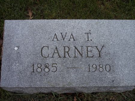 CARNEY, AVA T. - Page County, Iowa   AVA T. CARNEY