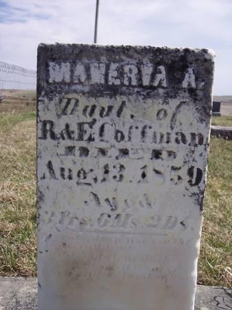 COFFMAN, MANERVA A. - Page County, Iowa   MANERVA A. COFFMAN