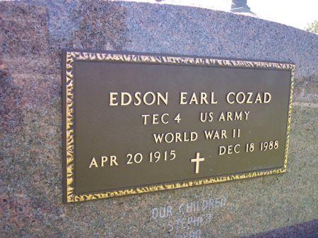 COZAD, EDSON EARL - Page County, Iowa | EDSON EARL COZAD