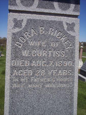 RICKEY CURTISS, DORA B. - Page County, Iowa | DORA B. RICKEY CURTISS