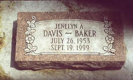 DAVIS-BAKER, JENELYN A. - Page County, Iowa   JENELYN A. DAVIS-BAKER