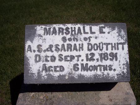 DOUTHIT, MARSHALL E. - Page County, Iowa   MARSHALL E. DOUTHIT