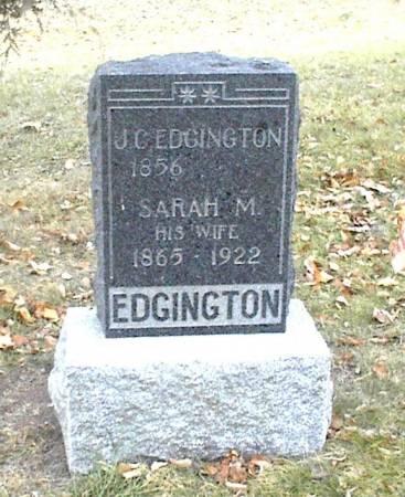 EDGINGTON, SARAH M. - Page County, Iowa | SARAH M. EDGINGTON