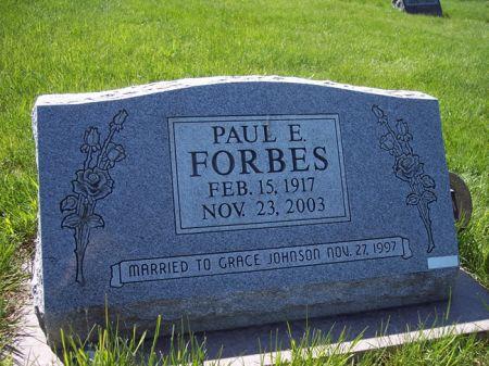 FORBES, PAUL E. - Page County, Iowa   PAUL E. FORBES