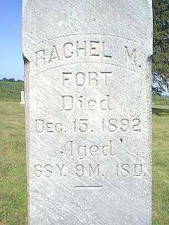 FORT, RACHEL M. - Page County, Iowa   RACHEL M. FORT