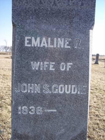 GOUDIE, EMALINE R. - Page County, Iowa   EMALINE R. GOUDIE