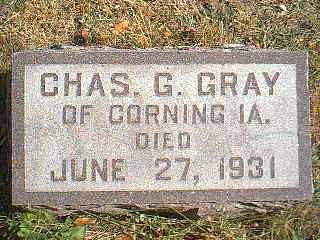 GRAY, CHAS G. - Page County, Iowa | CHAS G. GRAY