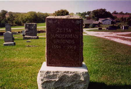 SUNDERMAN GROUNDS, ZETTA - Page County, Iowa | ZETTA SUNDERMAN GROUNDS