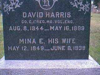 HARRIS, MINA E. - Page County, Iowa | MINA E. HARRIS
