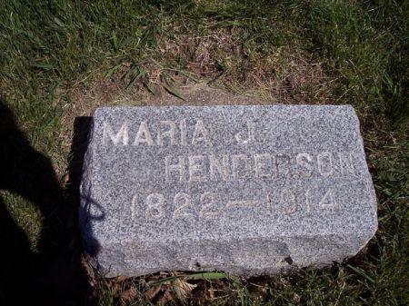 HENDERSON, MARIA J. - Page County, Iowa | MARIA J. HENDERSON