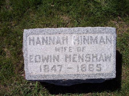 HINMAN HENSHAW, HANNAH - Page County, Iowa | HANNAH HINMAN HENSHAW