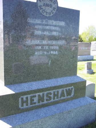 HENSHAW, CLARA M. - Page County, Iowa   CLARA M. HENSHAW