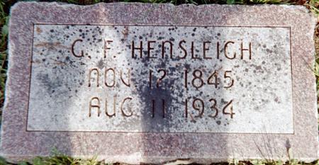 HENSLEIGH, G. F. - Page County, Iowa | G. F. HENSLEIGH