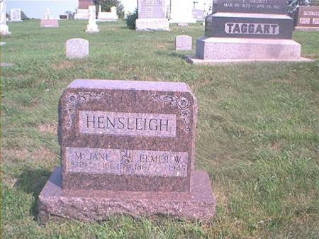 HENSLEIGH, ELMER W - Page County, Iowa | ELMER W HENSLEIGH