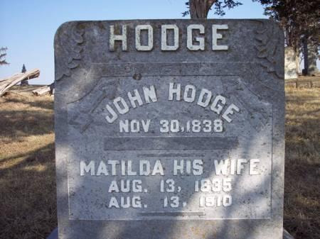 HODGE, JOHN - Page County, Iowa | JOHN HODGE
