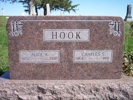 HOOK, ALICE A. - Page County, Iowa   ALICE A. HOOK