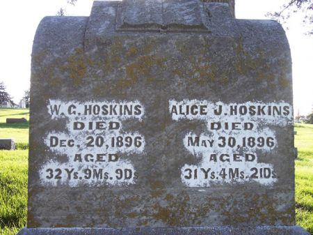 HOSKINS, ALICE J. - Page County, Iowa   ALICE J. HOSKINS