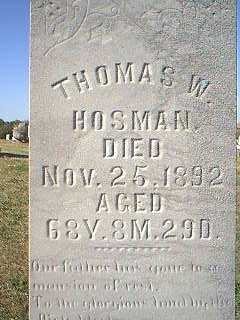HOSMAN, THOMAS W. - Page County, Iowa | THOMAS W. HOSMAN