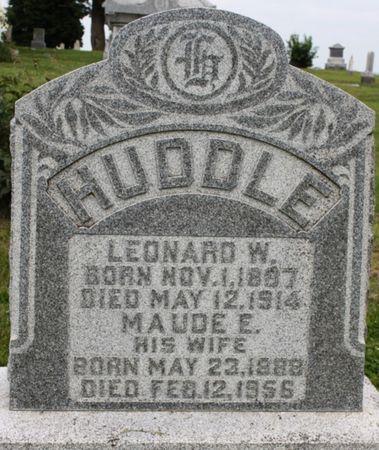HUDDLE, MAUDE E - Page County, Iowa | MAUDE E HUDDLE