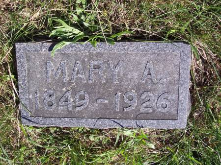 HUTSON, MARY A. - Page County, Iowa   MARY A. HUTSON