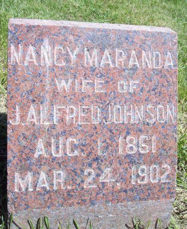 JOHNSON, NANCY MARANDA - Page County, Iowa   NANCY MARANDA JOHNSON
