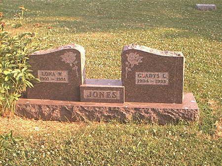 JONES, GLADYS L - Page County, Iowa   GLADYS L JONES