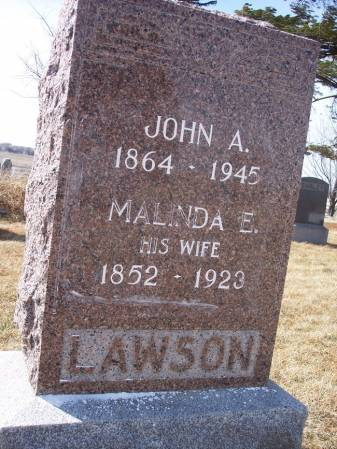 LAWSON, JOHN A. - Page County, Iowa   JOHN A. LAWSON