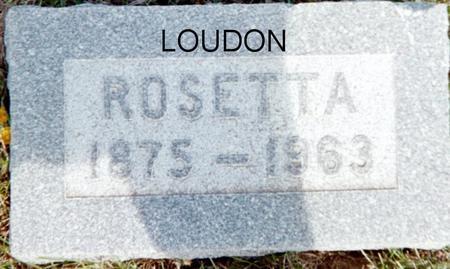LOUDON, ROSETTA - Page County, Iowa | ROSETTA LOUDON