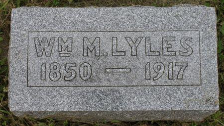LYLES, WILLIAM M - Page County, Iowa | WILLIAM M LYLES
