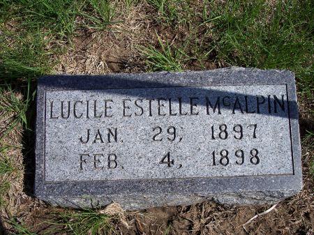 MCALPIN, LUCILE ESTELLE - Page County, Iowa | LUCILE ESTELLE MCALPIN
