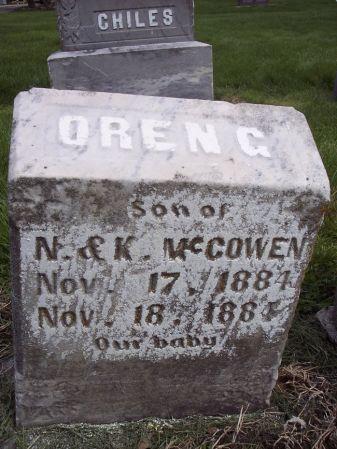 MCCOWEN, OREN G. - Page County, Iowa | OREN G. MCCOWEN