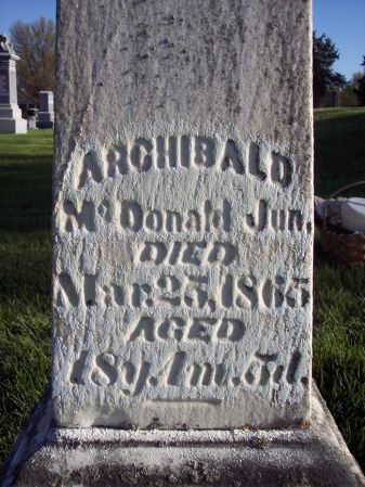 MCDONALD, ARCHIBALD JUN - Page County, Iowa | ARCHIBALD JUN MCDONALD