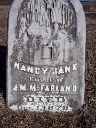 MCFARLAND, NANCY JANE - Page County, Iowa   NANCY JANE MCFARLAND