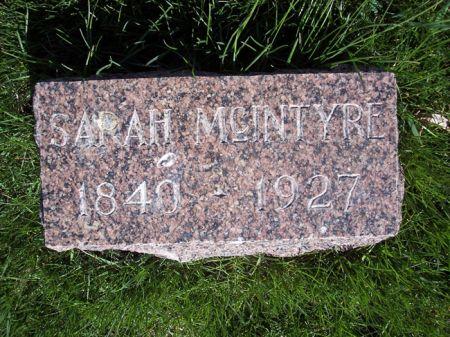 MCINTYRE, SARAH - Page County, Iowa   SARAH MCINTYRE
