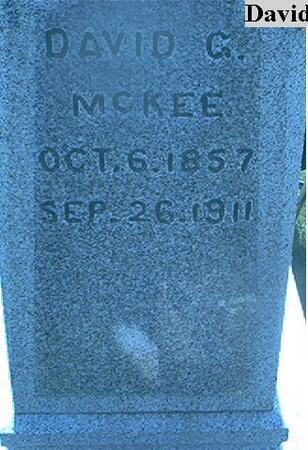 MCKEE, DAVID G. - Page County, Iowa | DAVID G. MCKEE