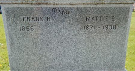 MCKEE, MATTIE E. - Page County, Iowa | MATTIE E. MCKEE