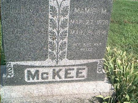 MCKEE, WILLIAM E - Page County, Iowa | WILLIAM E MCKEE