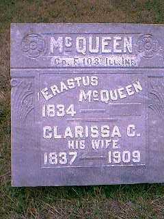 MCQUEEN, ERASTUS - Page County, Iowa   ERASTUS MCQUEEN