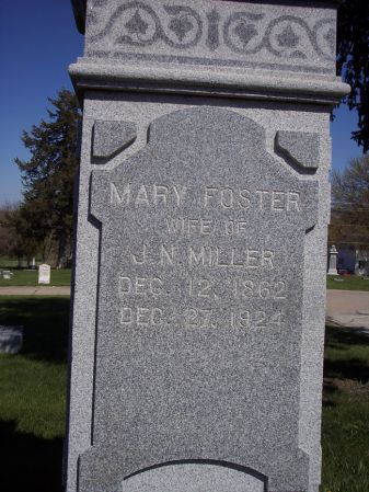 MILLER, MARY - Page County, Iowa | MARY MILLER